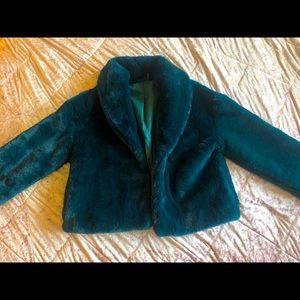 Teal Faux Fur coat